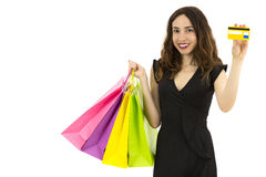 Shopping with the credit card Royalty Free Stock Images