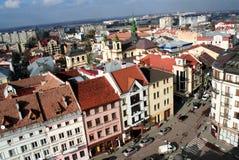 Shopping crossroads Ivano-Frankivsk city Royalty Free Stock Photos