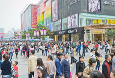 Shopping crowd Royalty Free Stock Image