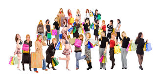 Shopping crowd Stock Photo