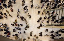 Shopping crowd topshot
