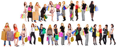 Shopping crowds Royalty Free Stock Images