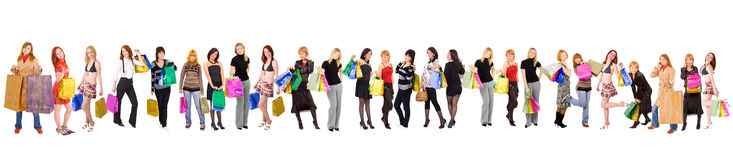 Shopping crowds Royalty Free Stock Photography