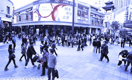 Shopping crowds in china Royalty Free Stock Image