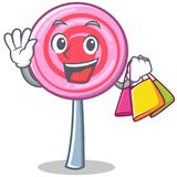 Shopping cute lollipop character cartoon. Vector illustration Royalty Free Stock Image