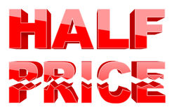 Half price 3d. Shopping 3d tag (big collection Stock Images