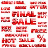 Shopping tags set Royalty Free Stock Photos