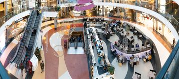 Shopping da cidade de Marineda foto de stock