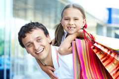 Shopping dad Royalty Free Stock Photo