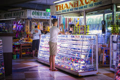 Shopping in Dam Market, Nha Trang, Vietnam Stock Photo