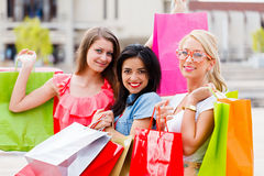 Shopping Day With My Girls Stock Photography
