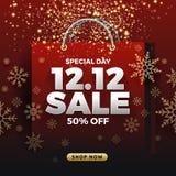 12.12 Shopping day sale banner background. 12 December sale post. Er template. Vector illustration vector illustration
