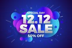 12.12 Shopping day sale banner background. 12 December sale poster template. Vector illustration vector illustration