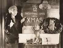Only 12 shopping days until Xmas royalty free stock images