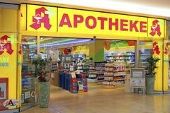 Shopping de Apotheke Riem Arcaden em Munich, Baviera Imagem de Stock
