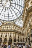 Shopping de Vittorio Emanuele da galeria em Milão, Itália Foto de Stock Royalty Free