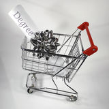 Shopping for a degree Stock Image