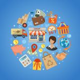 Shopping and Delivery Concept Royalty Free Stock Photo