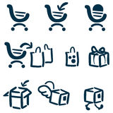 Shopping and delivery icon set Stock Photography