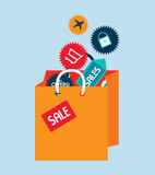 Shopping design Royalty Free Stock Images