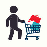 Shopping design Royalty Free Stock Photography
