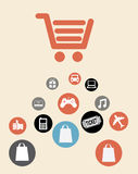 Shopping design Stock Images