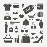 Shopping design elements Royalty Free Stock Image