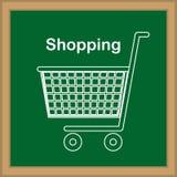 Shopping design. Over blackboard background, vector illustration stock illustration