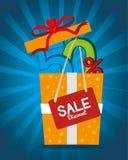 Shopping design. Shopping design over blue background, vector illustration vector illustration