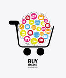Shopping design Royalty Free Stock Photos