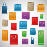 Shopping design. Shopping bag icon. sale concept Royalty Free Stock Images