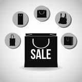 Shopping design. Shopping bag icon. sale concept. Shopping concept with icon design, vector illustration 10 eps graphic Royalty Free Stock Image