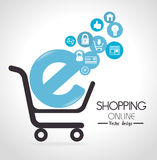 Shopping design, vector illustration. Stock Images