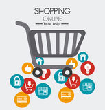 Shopping design, vector illustration. Royalty Free Stock Images