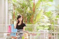 Shopping di festa fotografia stock