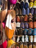 Shopping in Morocco royalty free stock image