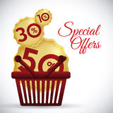 Shopping digital design. Royalty Free Stock Images