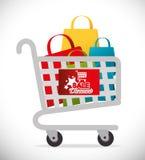 Shopping digital design. Royalty Free Stock Photo