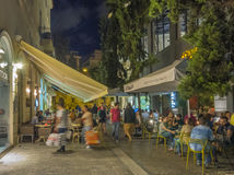 Shopping and dining in Athens, Greece Royalty Free Stock Photo