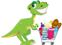 Shopping dinosaur Stock Photos