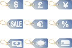 Shopping discount labels Stock Photo