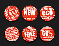 Shopping discount labels collection Royalty Free Stock Photography