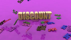 Shopping discounts concept Royalty Free Stock Photo