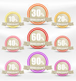 Shopping discounts labels collection Stock Photos