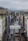 Shopping district Flon in Lausanne, Switzerland Stock Photos