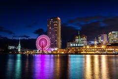 Shopping do mosaico de Kobe Harborland no crepúsculo imagem de stock