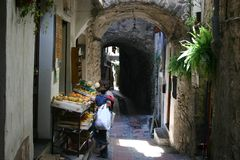 Shopping in Dolceacqua Stock Image