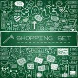 Shopping doodle set Stock Photo