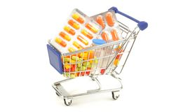 Shopping for drugs Stock Image