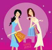 Shopping duo Stock Image